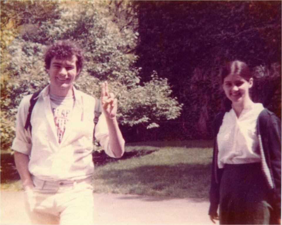 Tim Kaine and Anne Holton, his future wife, at Harvard Law School in 1983.